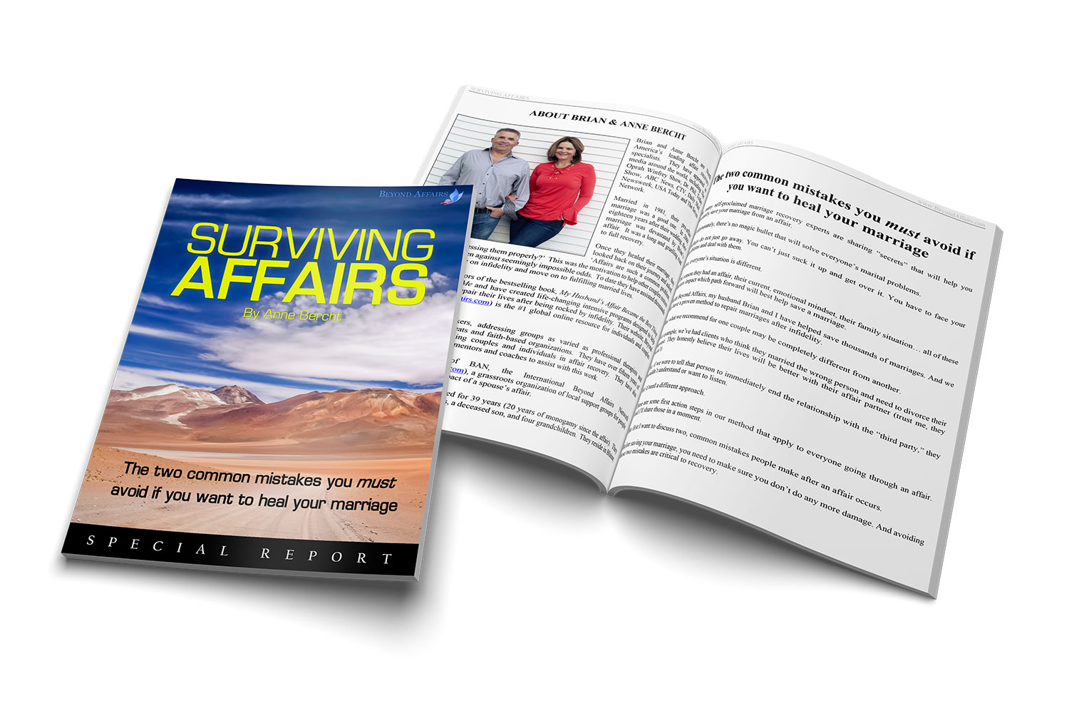 Beyond Affairs special report titled Surviving Affairs The two common mistakes you must avoid if you want to heal your marriage